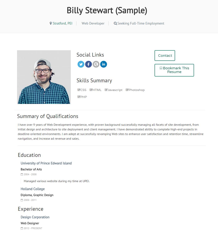 sample_resume - Sample For Resume